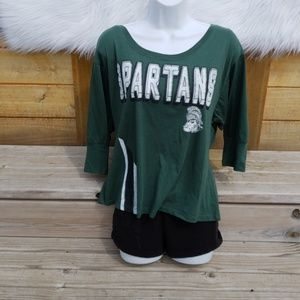 Tops - Michigan State Spartans 3/4 Sleeve Top